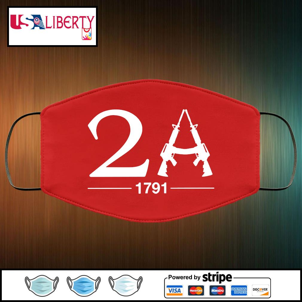 2A 1791 face mask face-mask-red-color