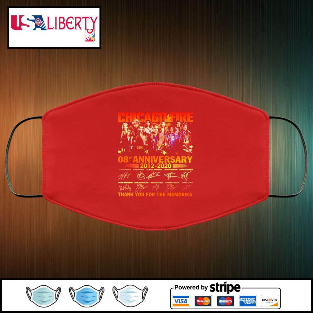 Chicago Fire 08th Anniversary 2012 2020 Thank You For The Memories Signatures face mask face-mask-red-color