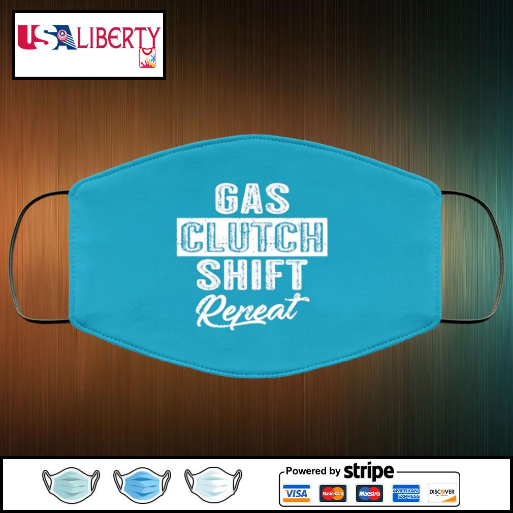 Gas Clutch Shift Repeat face mask face-mask-light-blue-color
