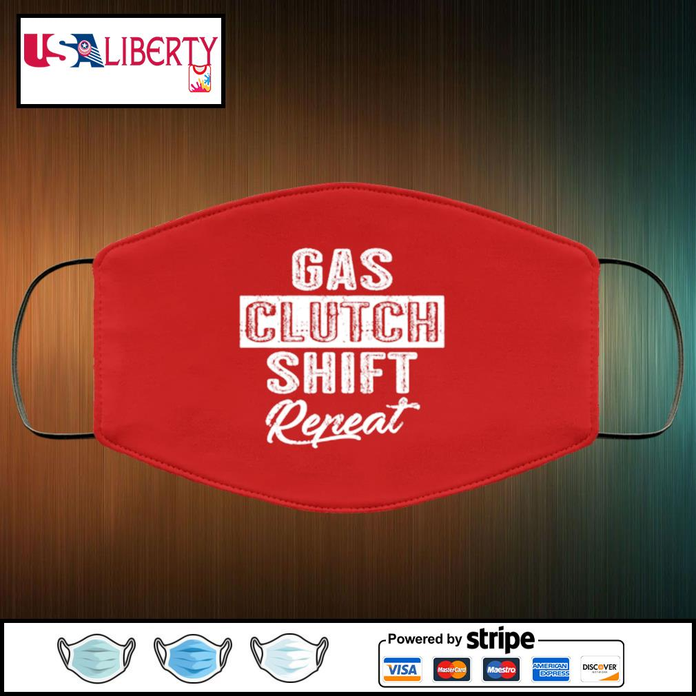 Gas Clutch Shift Repeat face mask face-mask-red-color