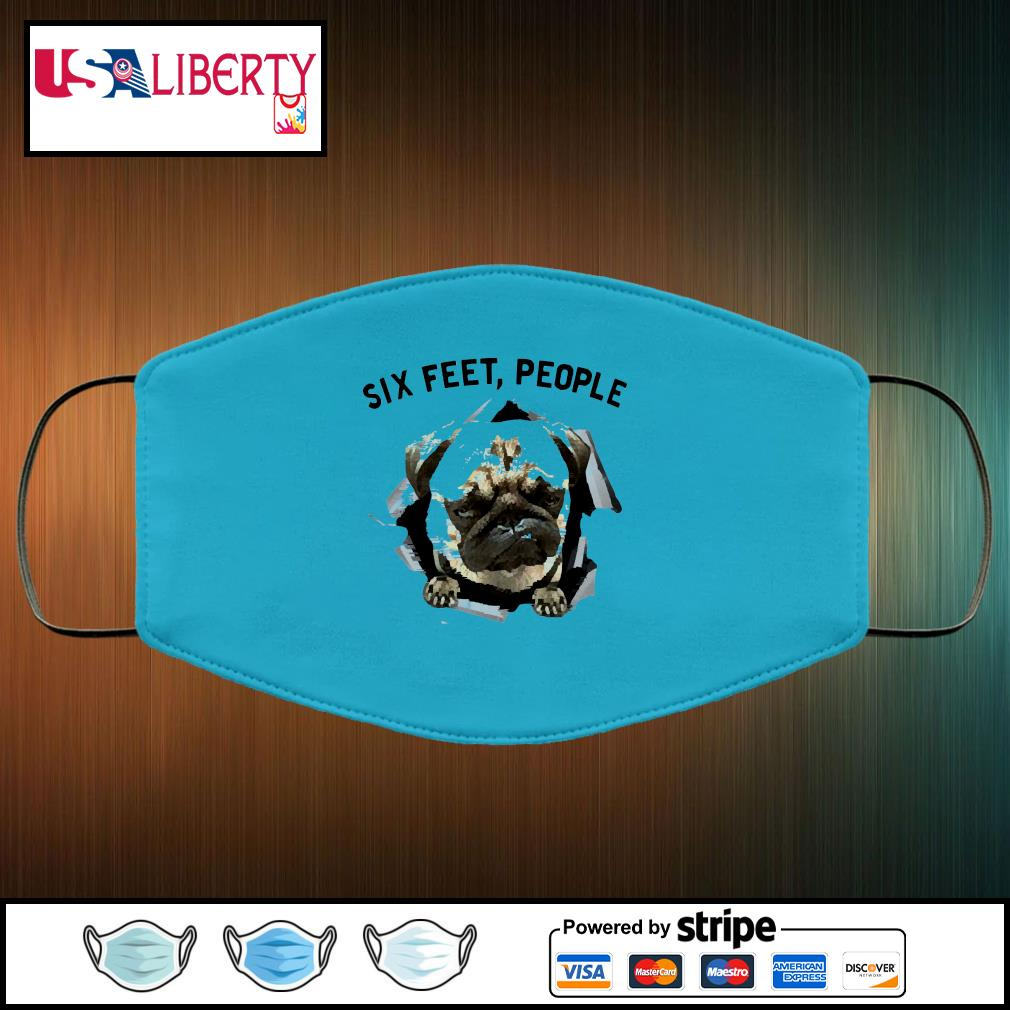 NEW Bulldog six feet people face mask face-mask-light-blue-color