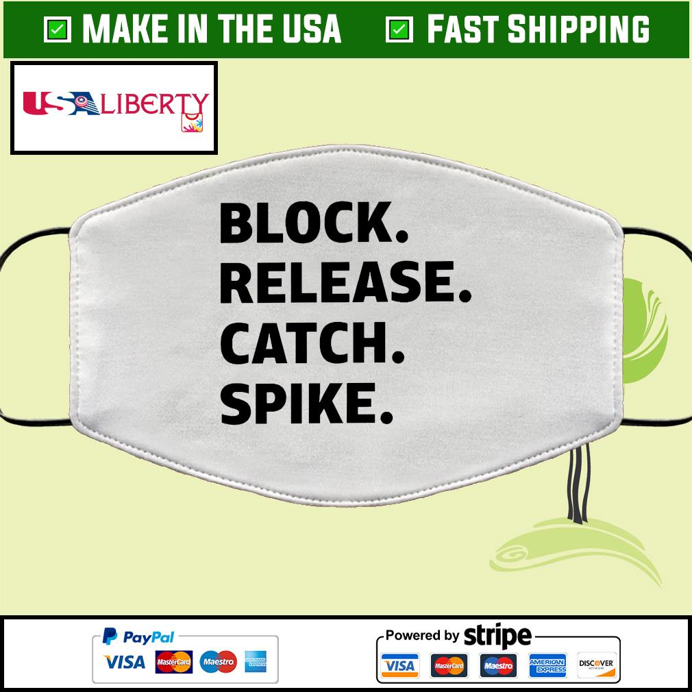 Block release catch spike Face Mask Washable