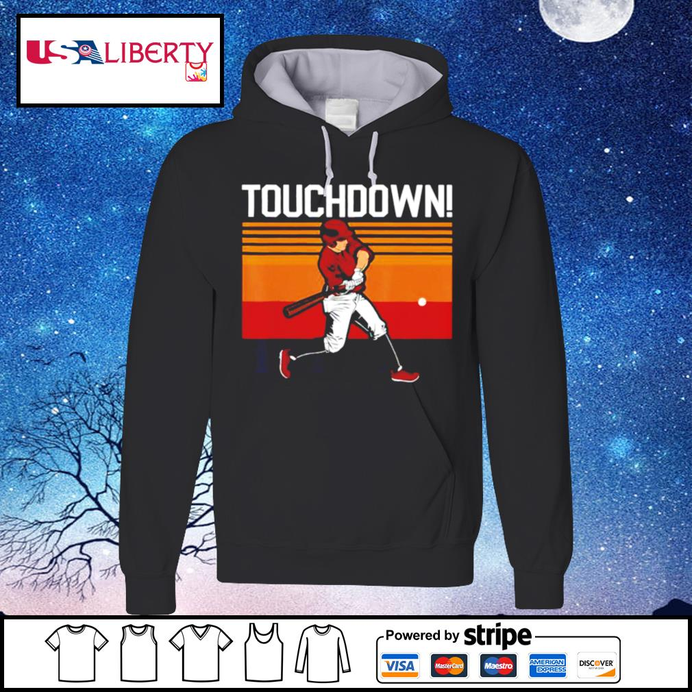 Touchdown sports humor home run baseball vinntage retro s hoodie
