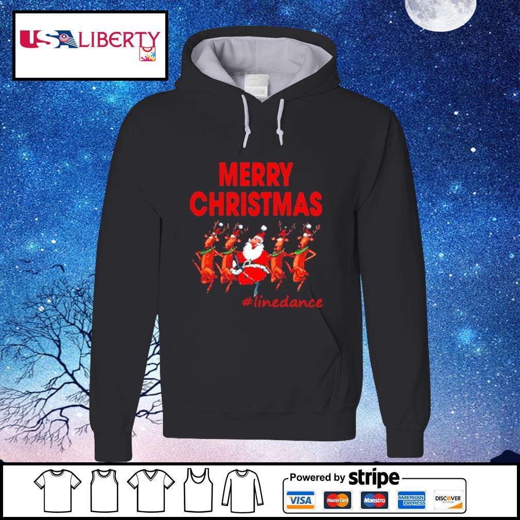 Santa Clau Merry Christmas Line Dancing s hoodie
