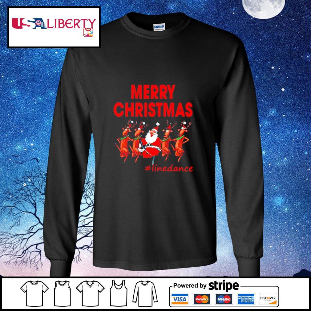 Santa Clau Merry Christmas Line Dancing s longsleeve-tee