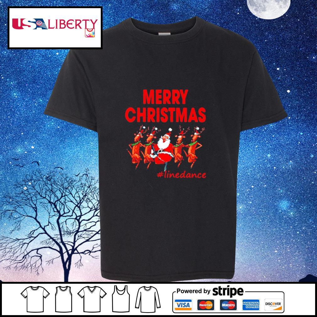 Santa Clau Merry Christmas Line Dancing s youth-tee