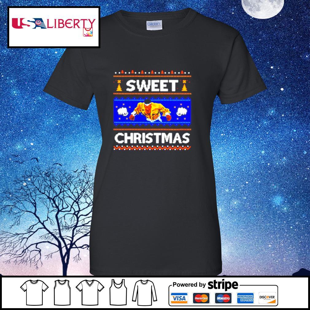 Sweet Christmas Ugly s ladies tee