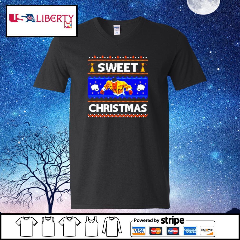 Sweet Christmas Ugly s v-neck t-shirt
