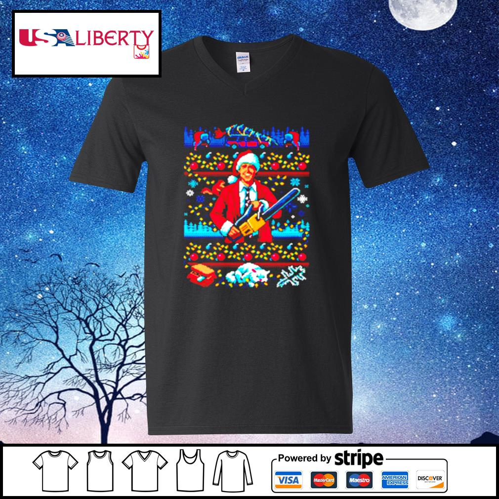 The Jolliest Bunch Of Assholes This Side Of The Nuthouse Ugly Christmas s v-neck t-shirt