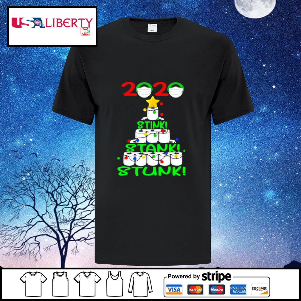2020 Stink Stank Stunk Funny Quarantine Ugly Christmas Tree shirt
