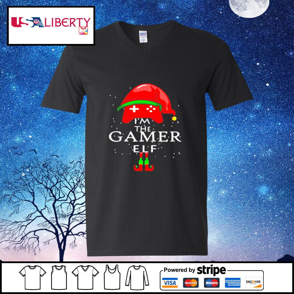Im A Gamer Elf Matching Family Group Christmas s v-neck-t-shirt