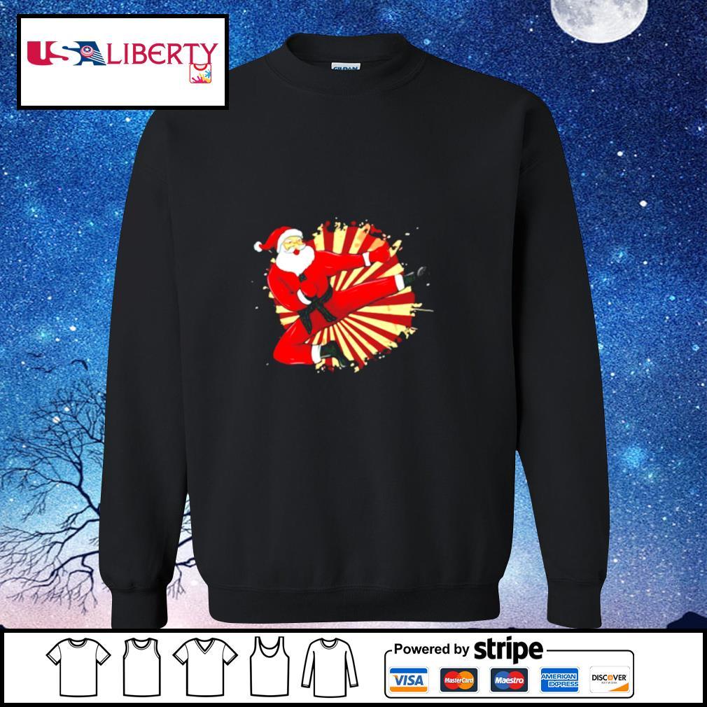 Karate Kick Santa Judo Taekwondo Martial Arts Christmas s sweater